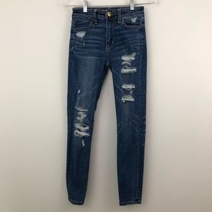 AEO 00 SHORT Hi Rise Jeggings Skinny Jeans Stretch